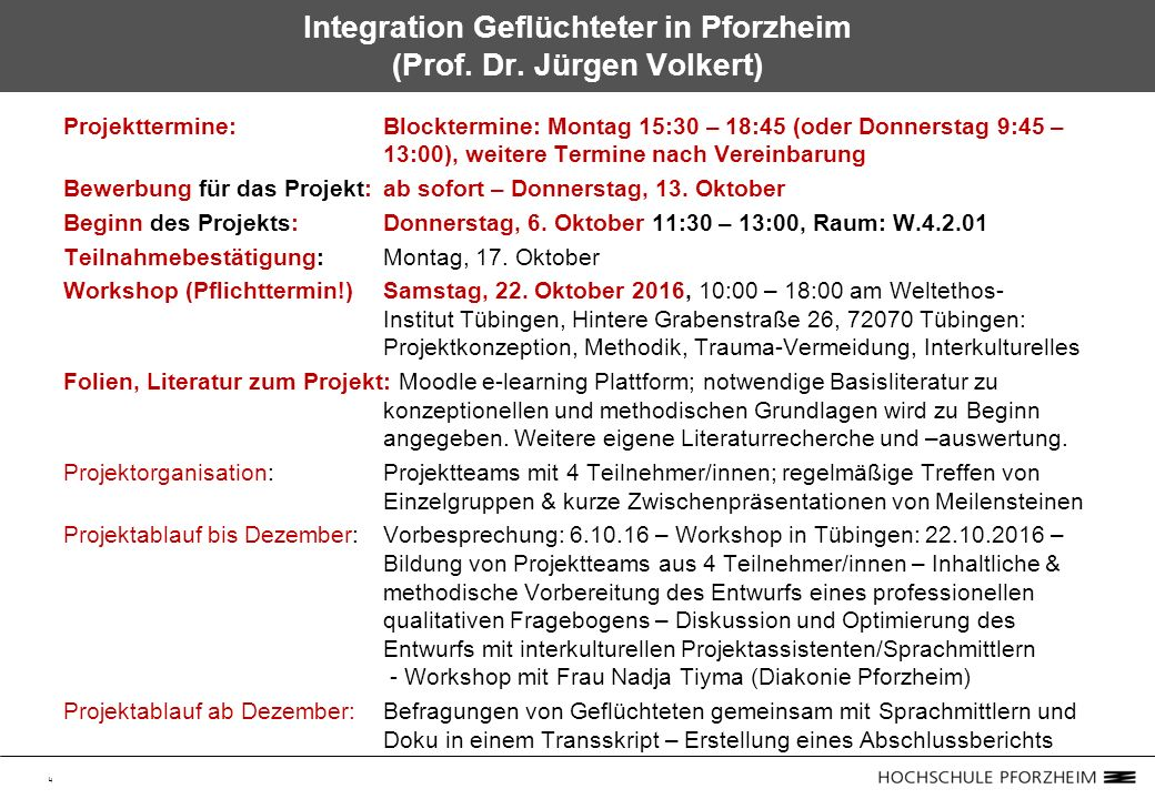 4 Integration Geflüchteter in Pforzheim (Prof. Dr.
