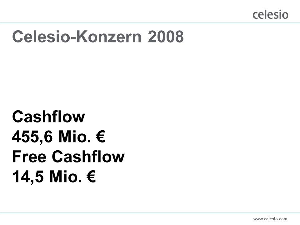 www.celesio.com Celesio-Konzern 2008 Cashflow 455,6 Mio. € Free Cashflow 14,5 Mio. €