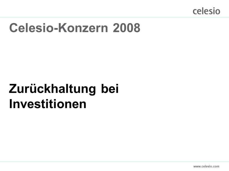 www.celesio.com Celesio-Konzern 2008 Zurückhaltung bei Investitionen