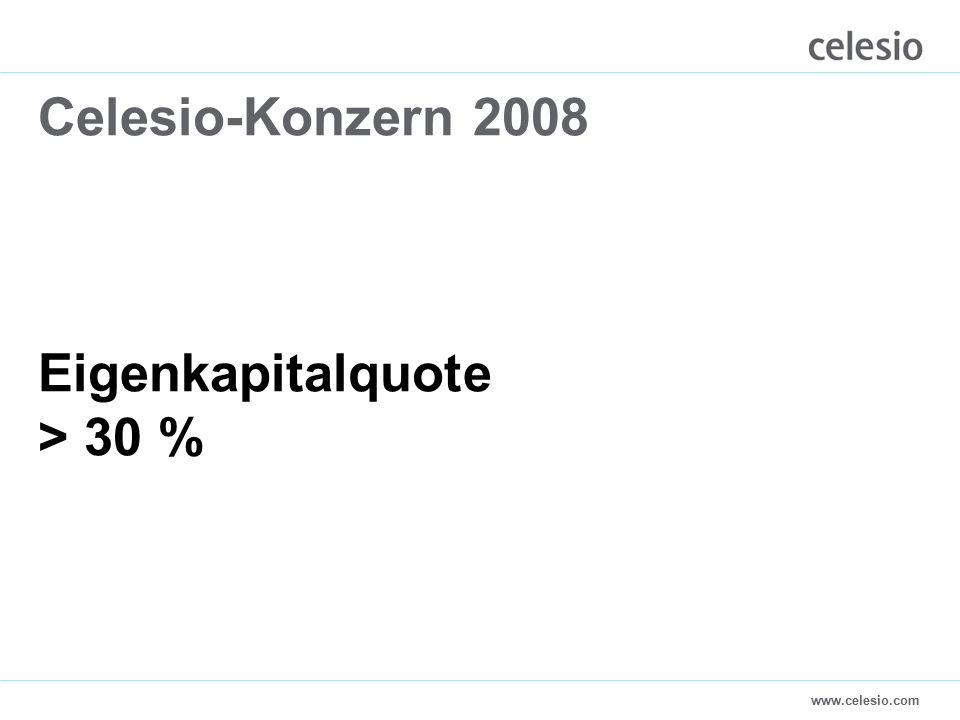 www.celesio.com Celesio-Konzern 2008 Eigenkapitalquote > 30 %