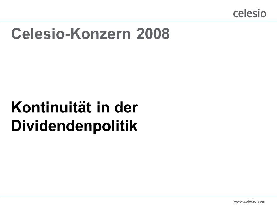 www.celesio.com Celesio-Konzern 2008 Kontinuität in der Dividendenpolitik