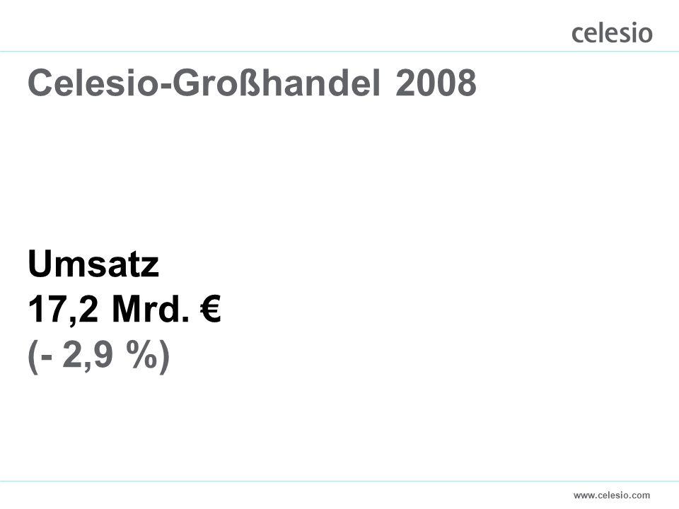 www.celesio.com Celesio-Großhandel 2008 Umsatz 17,2 Mrd. € (- 2,9 %)