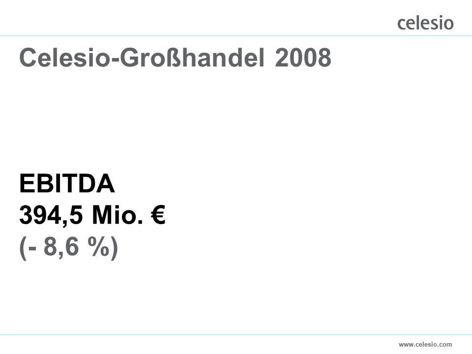 www.celesio.com Celesio-Großhandel 2008 EBITDA 394,5 Mio. € (- 8,6 %)