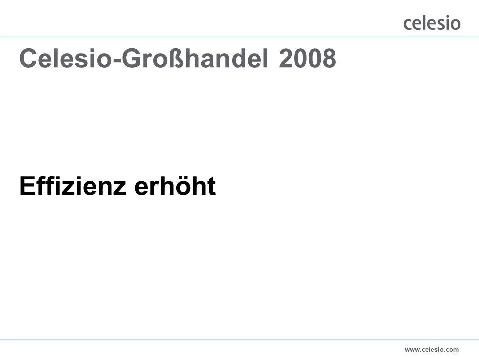www.celesio.com Celesio-Großhandel 2008 Effizienz erhöht