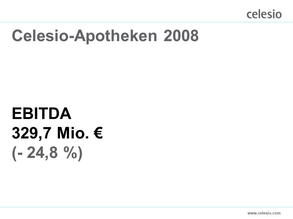 www.celesio.com Celesio-Apotheken 2008 EBITDA 329,7 Mio. € (- 24,8 %)