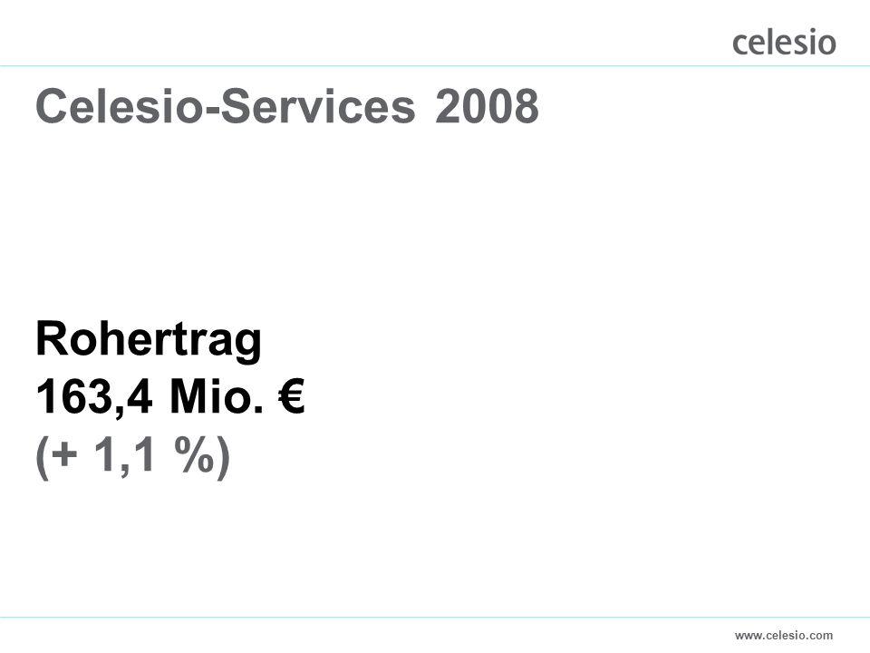 www.celesio.com Celesio-Services 2008 Rohertrag 163,4 Mio. € (+ 1,1 %)