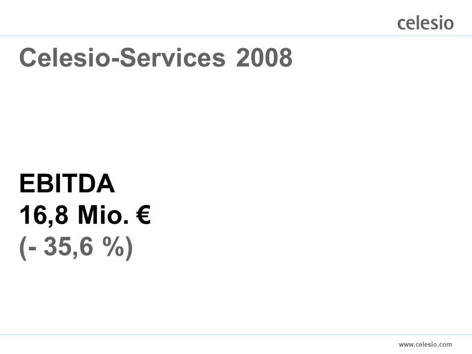 www.celesio.com Celesio-Services 2008 EBITDA 16,8 Mio. € (- 35,6 %)