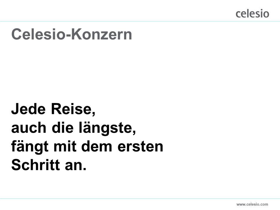 www.celesio.com Celesio-Konzern Jede Reise, auch die längste, fängt mit dem ersten Schritt an.