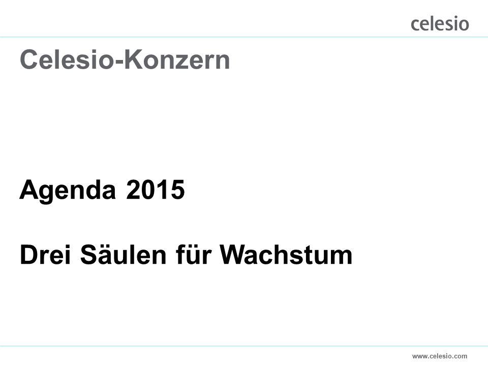 www.celesio.com Celesio-Konzern Agenda 2015 Drei Säulen für Wachstum