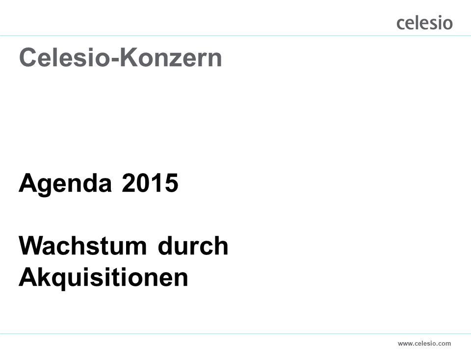 www.celesio.com Celesio-Konzern Agenda 2015 Wachstum durch Akquisitionen