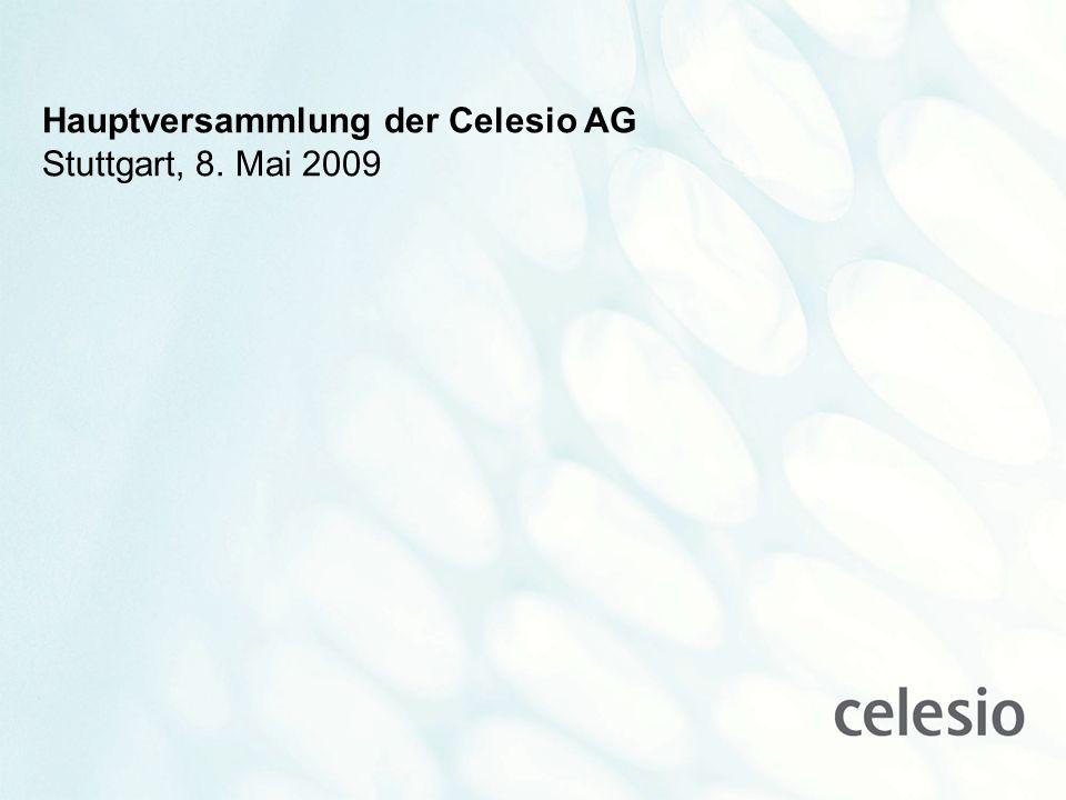 www.celesio.com Hauptversammlung der Celesio AG Stuttgart, 8. Mai 2009