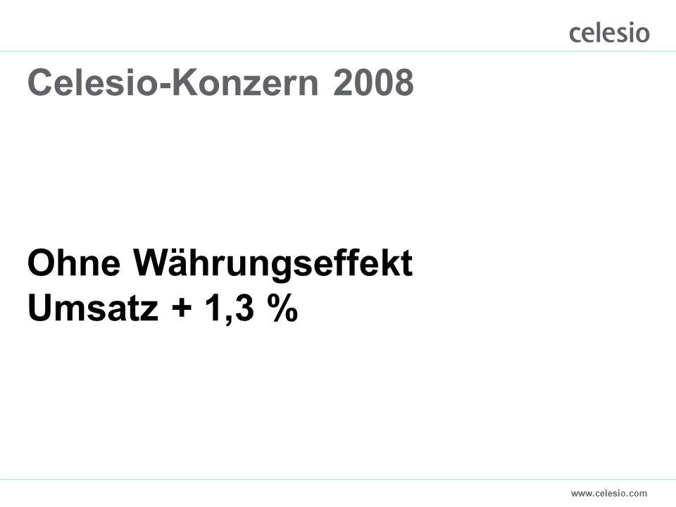 www.celesio.com Celesio-Konzern 2008 Ohne Währungseffekt Umsatz + 1,3 %