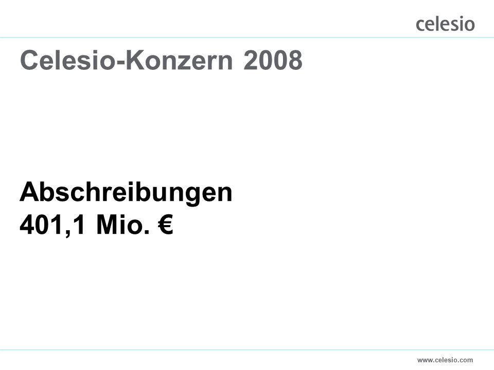 www.celesio.com Celesio-Konzern 2008 Abschreibungen 401,1 Mio. €