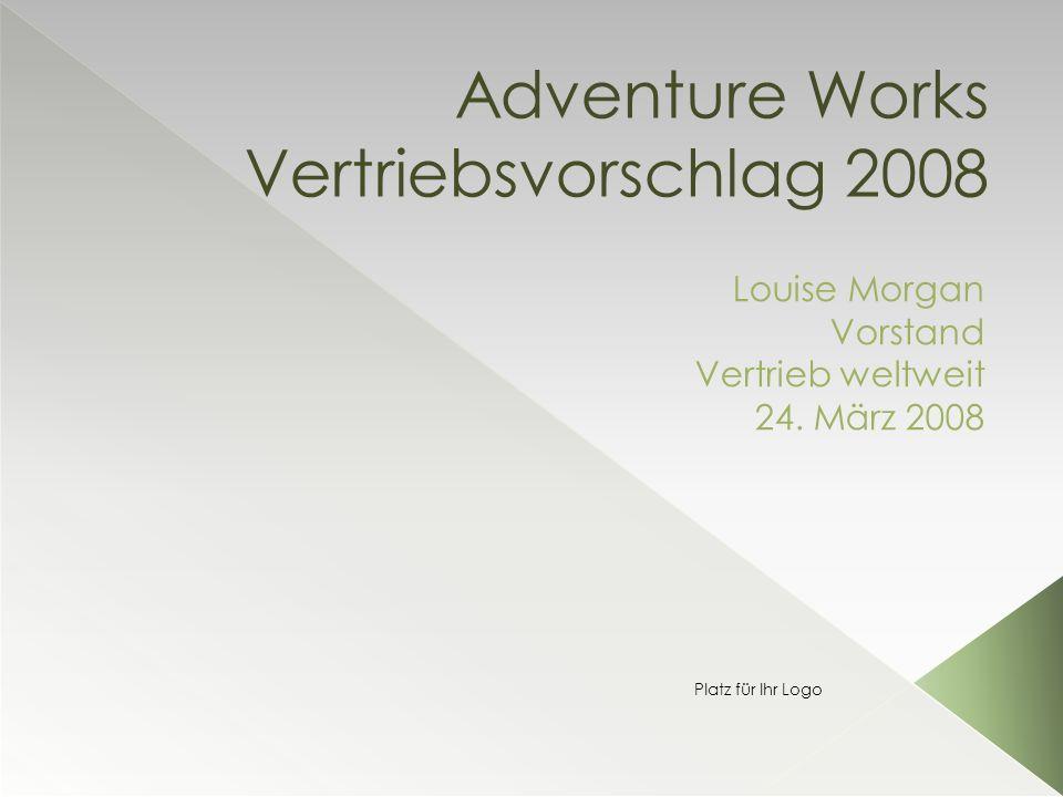 Adventure Works Vertriebsvorschlag 2008 Louise Morgan Vorstand Vertrieb weltweit 24.