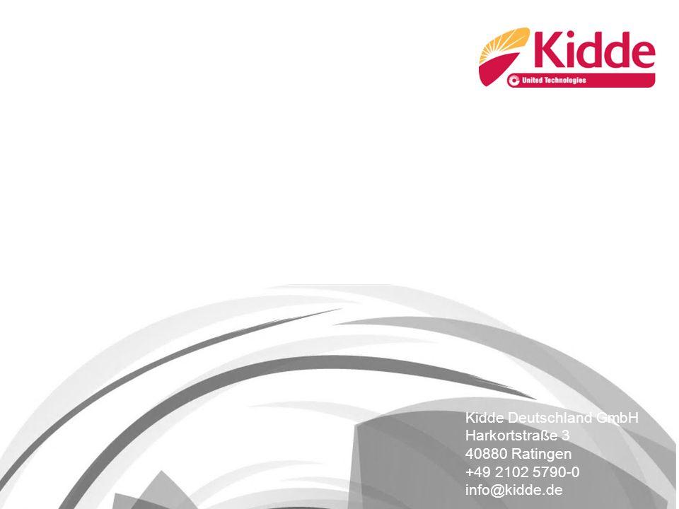 Kidde Deutschland GmbH Harkortstraße 3 40880 Ratingen +49 2102 5790-0 info@kidde.de