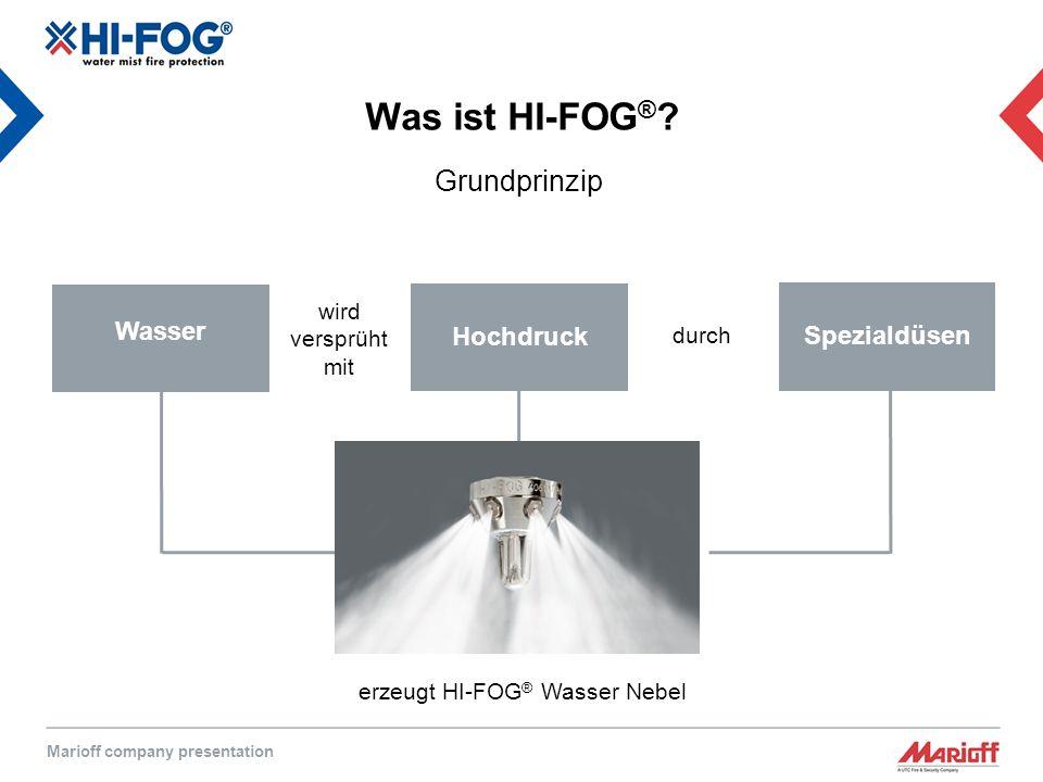 Marioff company presentation Was ist HI-FOG ® .