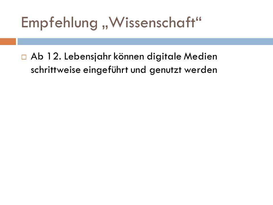 """Empfehlung """"Wissenschaft  Ab 12."""