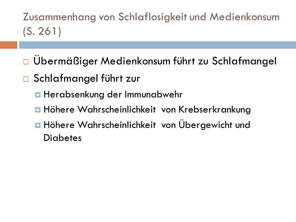 Zusammenhang von Schlaflosigkeit und Medienkonsum (S.