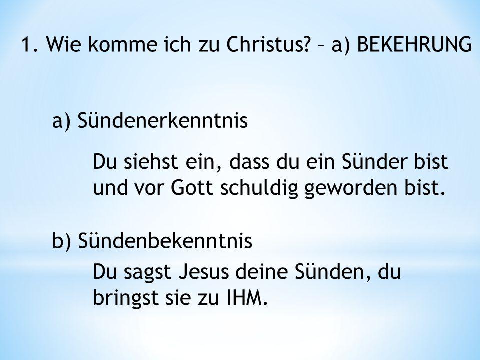 1. Wie komme ich zu Christus.