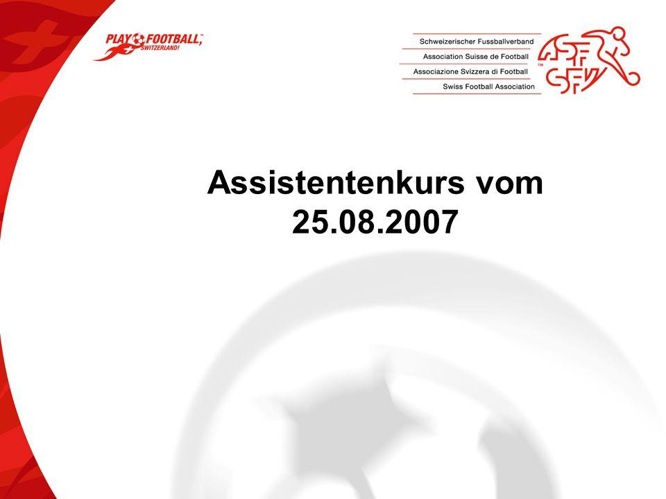 Assistentenkurs vom 25.08.2007