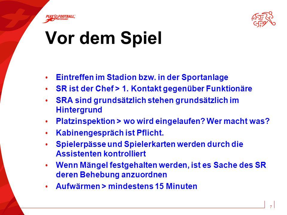 Vor dem Spiel Eintreffen im Stadion bzw. in der Sportanlage SR ist der Chef > 1.