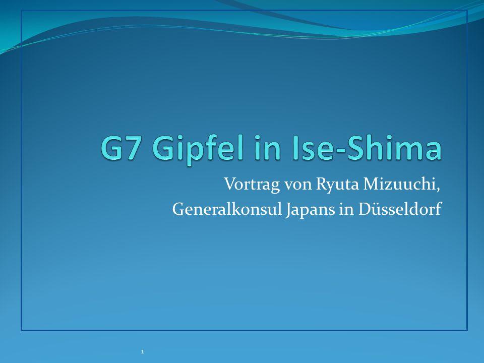 Vortrag von Ryuta Mizuuchi, Generalkonsul Japans in Düsseldorf 1