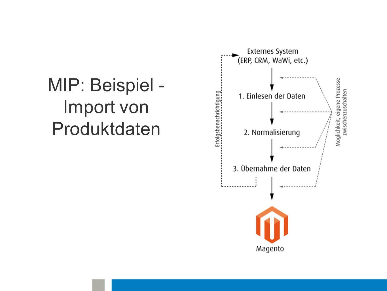 MIP: Beispiel - Import von Produktdaten