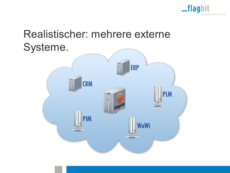 Realistischer: mehrere externe Systeme.