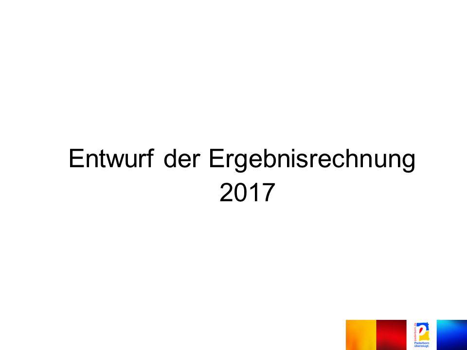 Entwurf der Ergebnisrechnung 2017