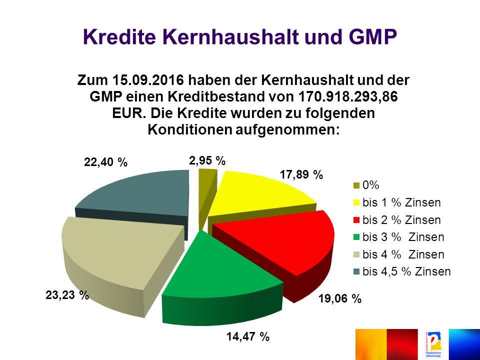 Kredite Kernhaushalt und GMP