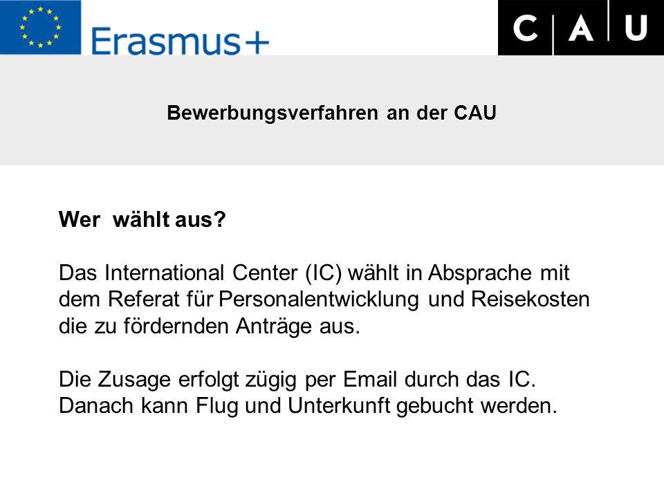 Bewerbungsverfahren an der CAU Wer wählt aus.