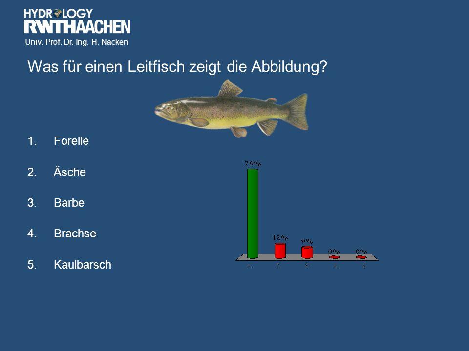 Univ.-Prof. Dr.-Ing. H. Nacken Was für einen Leitfisch zeigt die Abbildung.