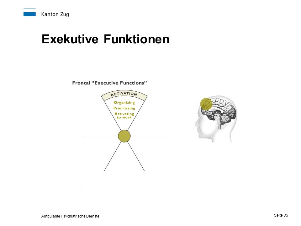 Ambulante Psychiatrische Dienste Seite 35 Exekutive Funktionen