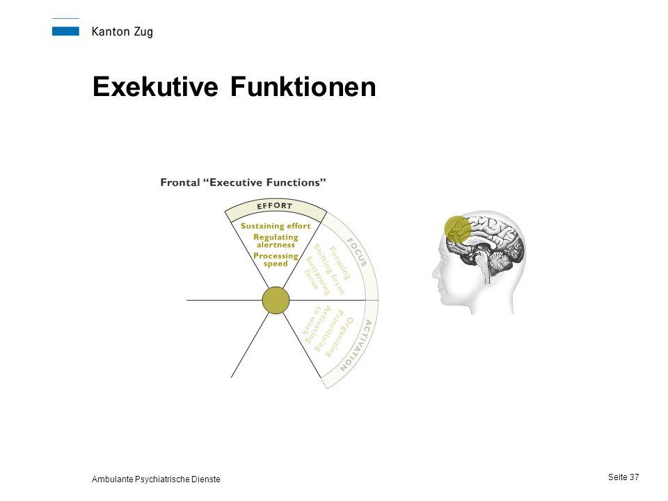 Ambulante Psychiatrische Dienste Seite 37 Exekutive Funktionen