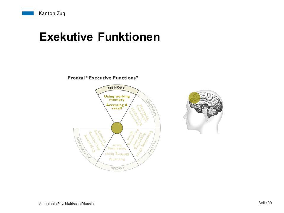 Ambulante Psychiatrische Dienste Seite 39 Exekutive Funktionen
