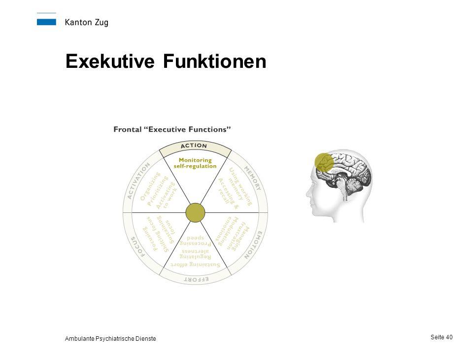 Ambulante Psychiatrische Dienste Seite 40 Exekutive Funktionen