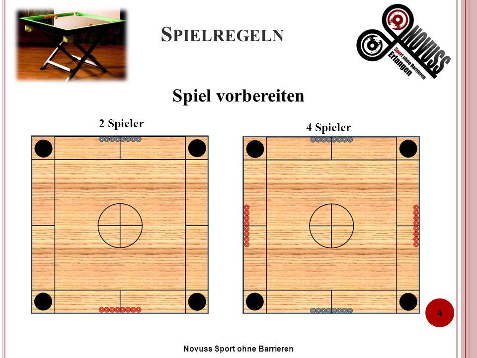 S PIELREGELN 4 4 Spieler 2 Spieler Spiel vorbereiten Novuss Sport ohne Barrieren