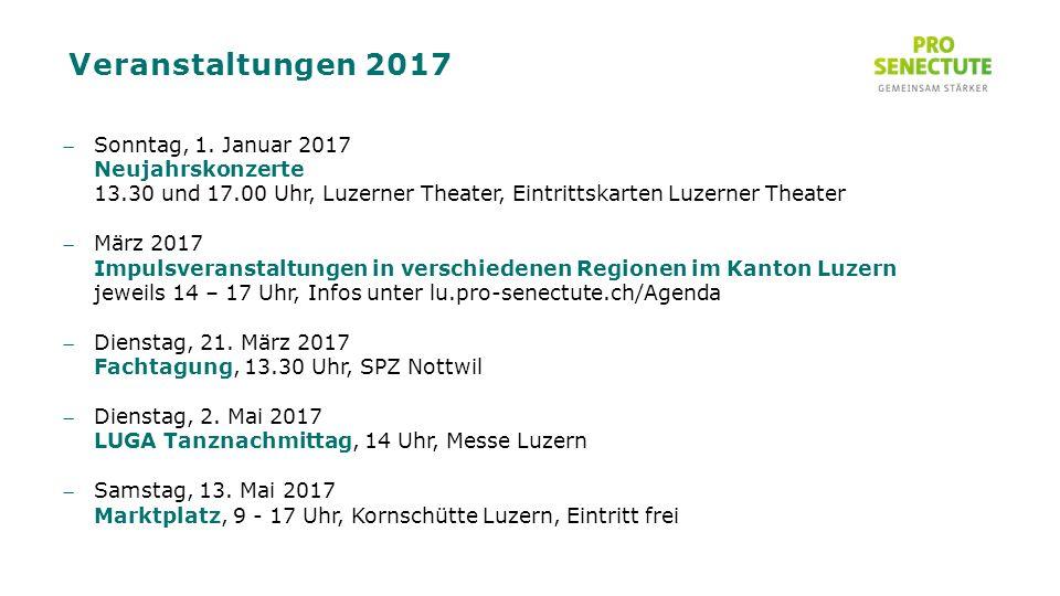 Veranstaltungen 2017 Sonntag, 1.