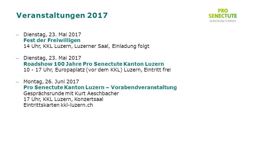Veranstaltungen 2017 Dienstag, 23.