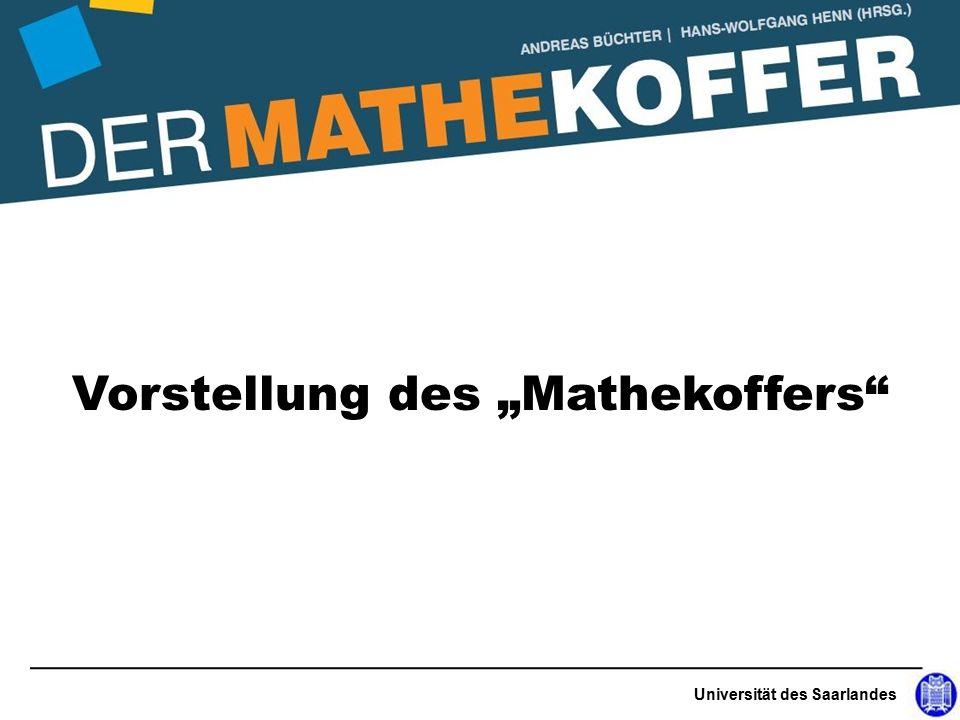 """Universität des Saarlandes Vorstellung des """"Mathekoffers"""