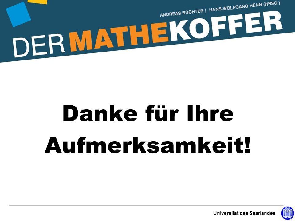 Danke für Ihre Aufmerksamkeit! Universität des Saarlandes