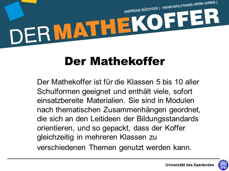 Der Mathekoffer ist für die Klassen 5 bis 10 aller Schulformen geeignet und enthält viele, sofort einsatzbereite Materialien.
