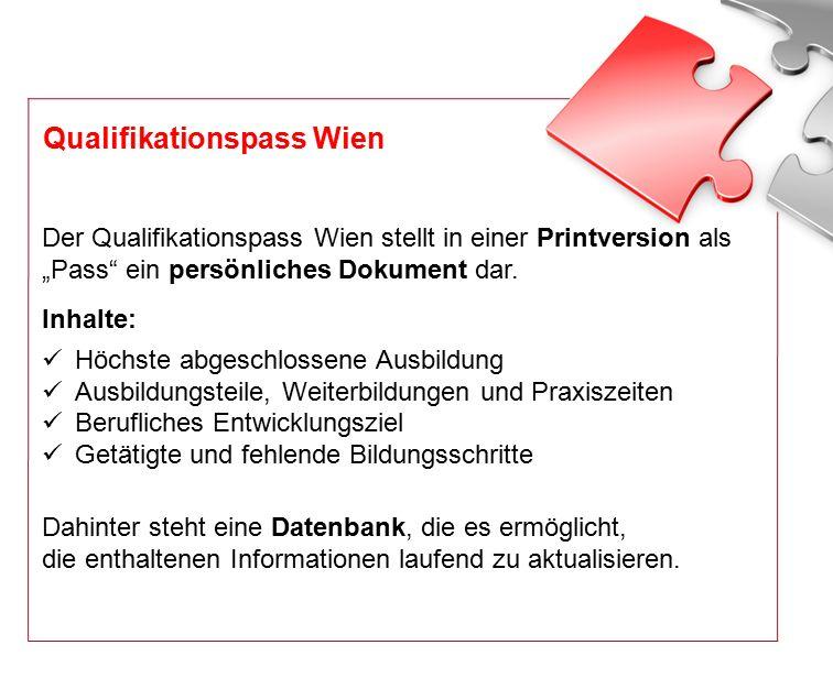 """Der Qualifikationspass Wien stellt in einer Printversion als """"Pass ein persönliches Dokument dar."""