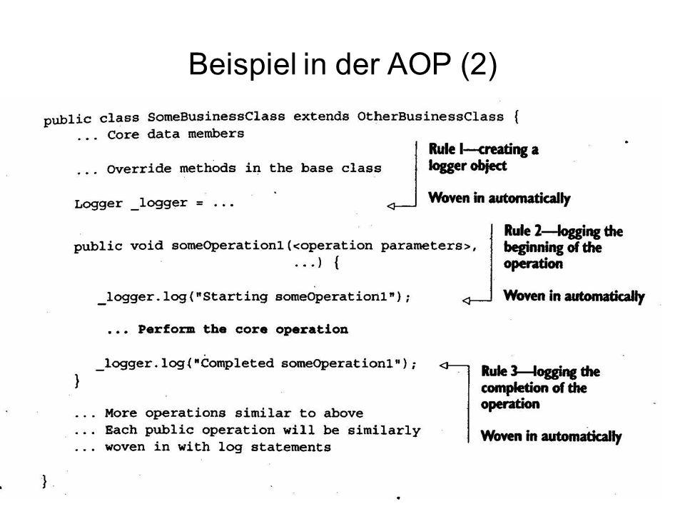 22 Beispiel in der AOP (2)