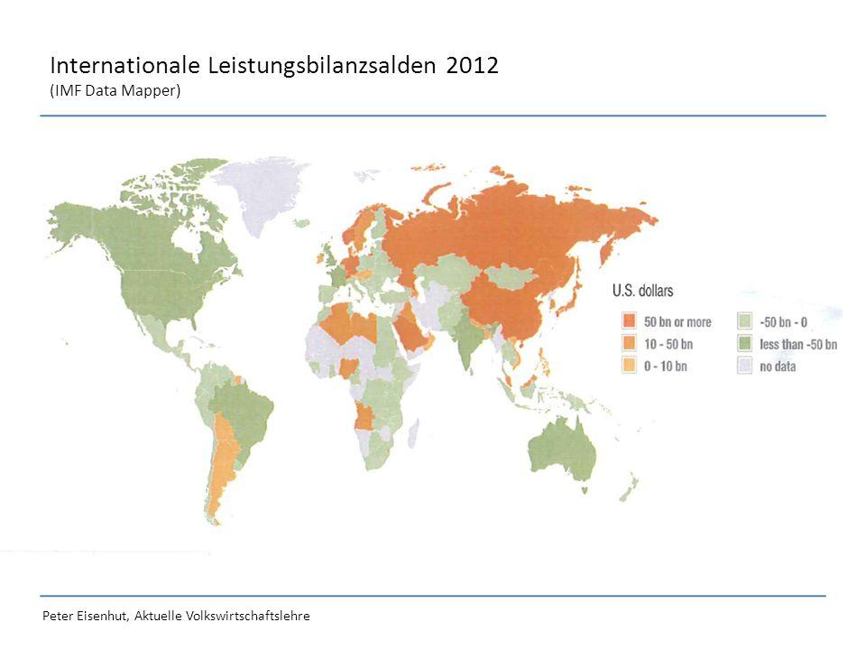 Peter Eisenhut, Aktuelle Volkswirtschaftslehre Internationale Leistungsbilanzsalden 2012 (IMF Data Mapper)