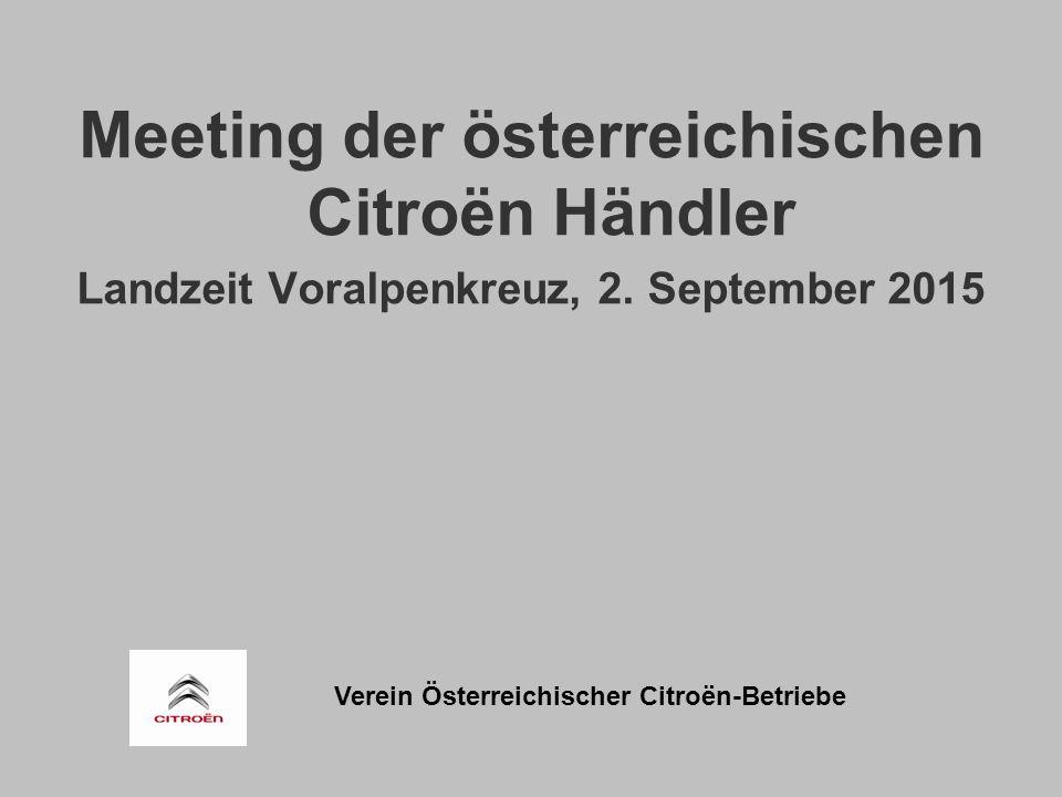 Verein Österreichischer Citroën-Betriebe Meeting der österreichischen Citroën Händler Landzeit Voralpenkreuz, 2.