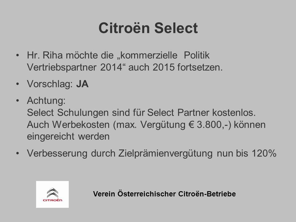 Verein Österreichischer Citroën-Betriebe Citroën Select Hr.