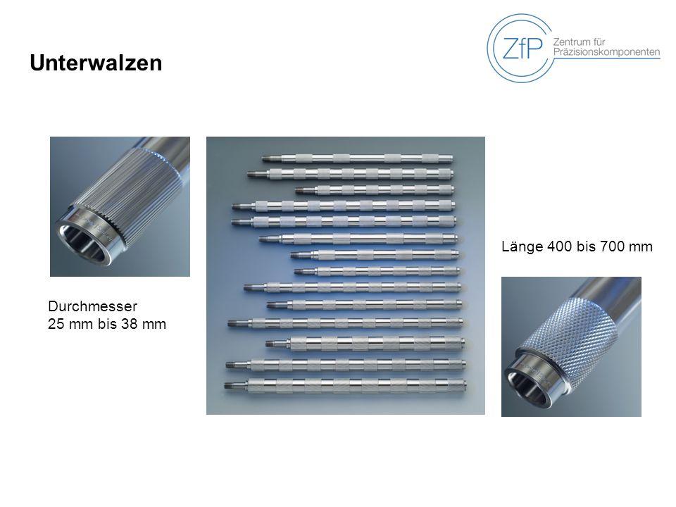 Unterwalzen Länge 400 bis 700 mm Durchmesser 25 mm bis 38 mm
