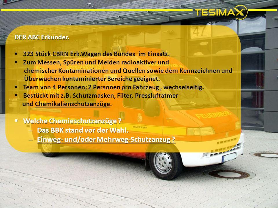 DER ABC Erkunder.  323 Stück CBRN Erk.Wagen des Bundes im Einsatz.