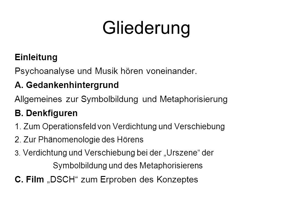 Gliederung Einleitung Psychoanalyse und Musik hören voneinander.